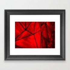 Modern Abstract Triangle Pattern Framed Art Print