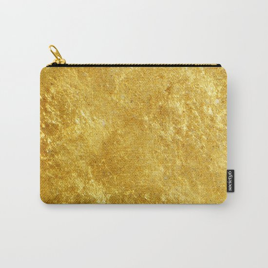 Golden Texture #lifestyle #society6 Carry-All Pouch