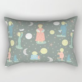 Everybody...off to bed - Childrens book illustration/Pattern Rectangular Pillow