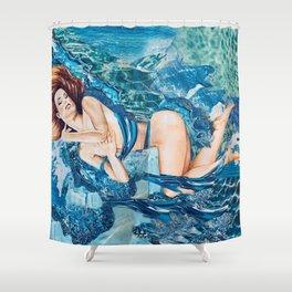 Water Splash Shower Curtain