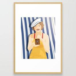 Madalin at the Beach Framed Art Print