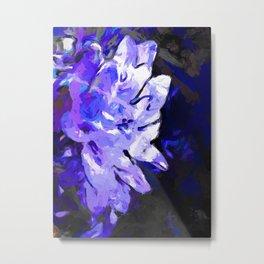 Flower Lavender Lilac Blue Metal Print