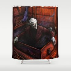 Dracula Nosferatu Vampire King Shower Curtain