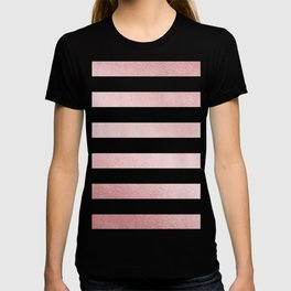 Simply Stripes in Rose Gold Sunset T-shirt