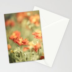 Field of Orange Stationery Cards