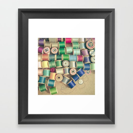 Cotton Reels Framed Art Print