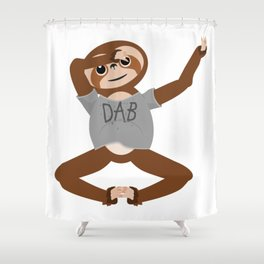 Sloth Dabbing Shower Curtain