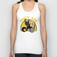gym Tank Tops featuring B Gym by Buby87