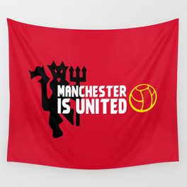 Manchester Is United Wall Tapestry