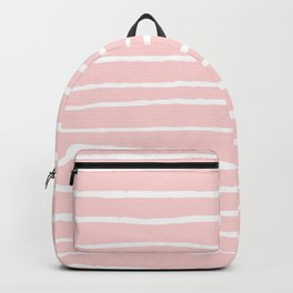White lines on blush Backpack