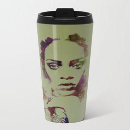 RIHANNA Watercolor dig Metal Travel Mug