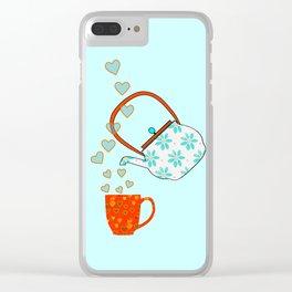 Tea Time Love Clear iPhone Case