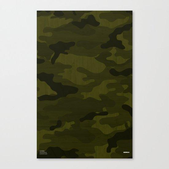 Modern Woodgrain Camouflage / Greenwoods DPM Canvas Print