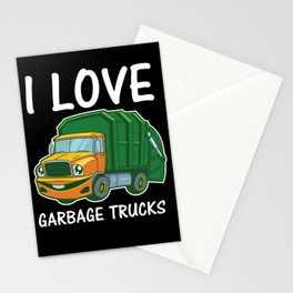 I Love Garbage Rubbish Trash Trucks Climate Earth Day Kids Eco Gift Stationery Cards