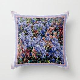 CEANOTHUS JULIA PHELPS ABSTRACT Throw Pillow