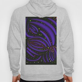 Purple Fireworks Display Hoody