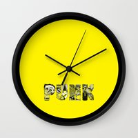 punk Wall Clocks featuring PUNK by René Barth