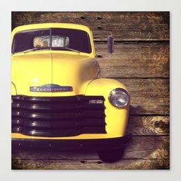 Yellow Chevy Canvas Print