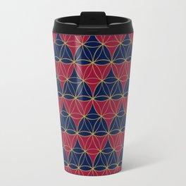 Heart Pattern Red-Blue2 Travel Mug