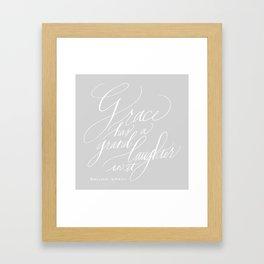 Marilynne Robinson in gray Framed Art Print