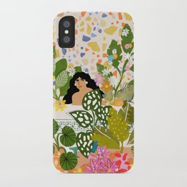 Bathing with Plants iPhone Case