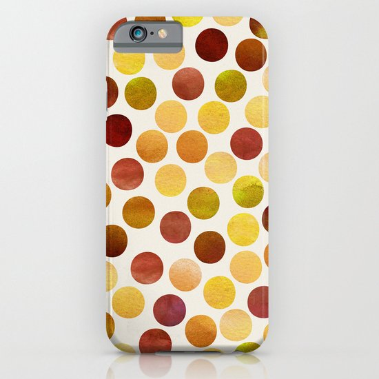 Watercolor Dots_Amber iPhone & iPod Case