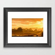 Golden Haze Framed Art Print