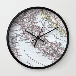 Vintage Map of Italy (1905) Wall Clock