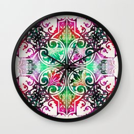 Bright Colorful Pattern Art - Color Fusion Design 10 By Sharon Cummings Wall Clock