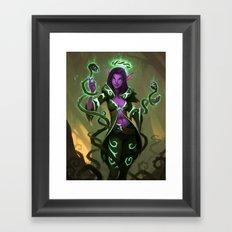 Elf Warlock, Level 3 Framed Art Print