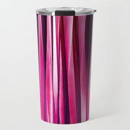 Burgundy Rose Stripy Lines Pattern Travel Mug