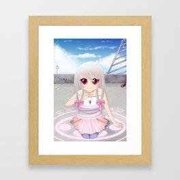 Kyubey - Magical Girl AU  Framed Art Print