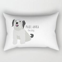 Paul Anka, the dog. Rectangular Pillow