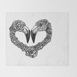 Flamingo Heart Throw Blanket