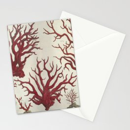 Naturalist Red Coral Stationery Cards