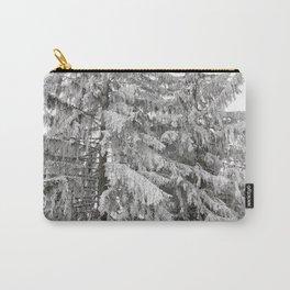 Snow On Fir Trees Carry-All Pouch