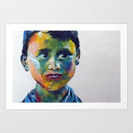 Nepali Boy Art Print