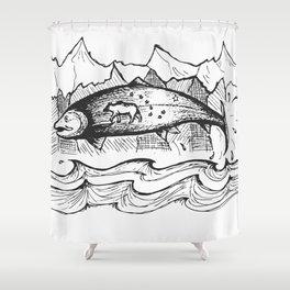 Wild Alaska Shower Curtain
