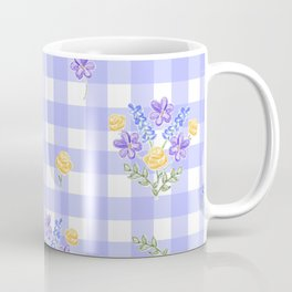 Spring picnic bouquets in Provence blue Coffee Mug