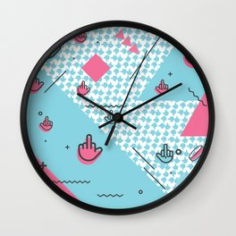 Geometic Fingers Wall Clock