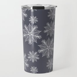 Christmas snowflakes navy blazer Travel Mug