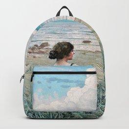 Paul Gustav Fischer - Two Friends. Beach Scene - Digital Remastered Edition Backpack