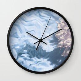 Blue Texture I Wall Clock