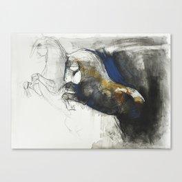 Envolée - Horse Drawing Art Work Canvas Print