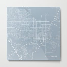 Gainesville Map, USA - Slate Metal Print