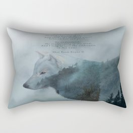 Wilderness Wolf & Poem Rectangular Pillow
