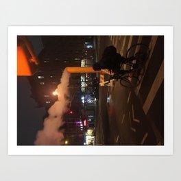 Pipeline in the city... Art Print