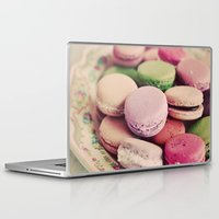 macarons Laptop & iPad Skins featuring Sweet Macarons by elle moss