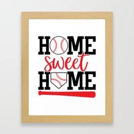 Home Sweet Home Baseball Framed Art Print