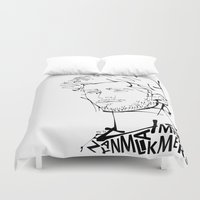 zayn malik Duvet Covers featuring Typographic Zayn by Ashley R. Guillory